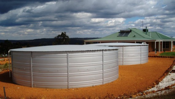 Image of a water storage tank