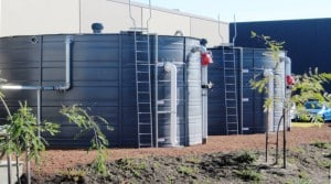 Water storage tanks provided by Rainbow Reservoirs